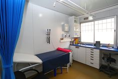 Shipping container clinics can be manufactured offsite and deployed to remote areas, making healthcare accessible to all. Storage Container Homes, Storage Containers, Clinic Design, Stretching Exercises, Built In Storage, Hospitals, Doctors, Surgery, Dental