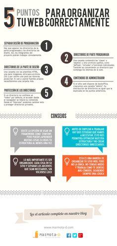 5 puntos para organizar tu web correctamente #infografia