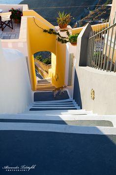 Yellow Archway in Fira. Santorini
