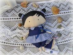 Купить Маленькая морячка.Милашка (Sweetheart) - синий, морячка, морская тема…
