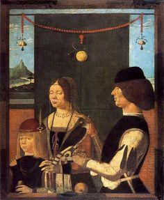 Antonio da Crevalcore, italiano (attivo intorno al 1480-1490 a Ferrara)TitoloFamiglia di Uberto de 'SacratiData1480mediotempera su telaDimensioniAltezza: 112,3 cm (44,2 pollici).Larghezza: 90,8 cm (35,7 pollici).Posizione attuale  Alte Pinakothek