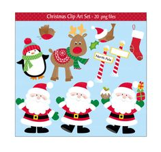 This festive high quality Christmas clip art set is great for all your craft projects. You could design your own greeting cards, invitations, gift tags, decorations and lots more.  This Christmas set is supplied as 2 compressed zip files and includes:- 20 .png files with transparent backgrounds 3 digital papers (12 x 12) jpeg files 2 backgrounds (12 x 12) jpeg files  All files are high resolution (300dpi) and no watermark will appear on purchased files.  *Instant Download *once payment has…