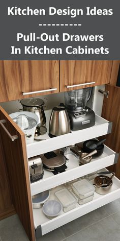 Uplifting Kitchen Remodeling Choosing Your New Kitchen Cabinets Ideas. Delightful Kitchen Remodeling Choosing Your New Kitchen Cabinets Ideas. Kitchen Appliance Storage, Kitchen Cabinet Storage, Storage Cabinets, Kitchen Organization, Kitchen Appliances, Organization Ideas, Organized Kitchen, Small Appliances, Kitchen Shelves