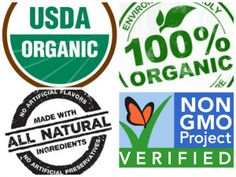 The USDA organic label and other similar food labels.