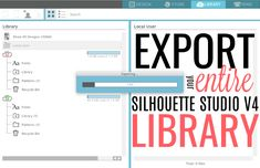 Need to move, back up or you export your entire Silhouette Studio library? This beginner Silhouette Studio will show you exactly how to save your entire Silhouette library. Silhouette Cameo Tutorials, Silhouette Cameo Machine, Silhouette Vinyl, Silhouette Projects, Silhouette Design, Silhouette Studio, Silhouette Cutter, Silhouette America, Silhouette Files