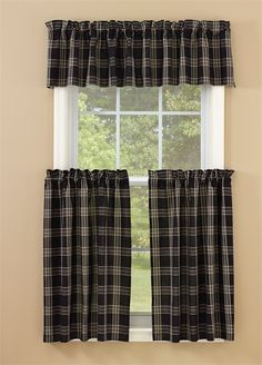 "Black Coffee Curtain Valance 72"" x 14"""
