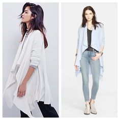 Free People NWT Cardigan NWT and so comfy cozy! SOLD OUT COLOR SKY BLUE  Retail $168  Free People Sweaters Cardigans