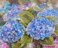 Blue Hydrangeas by Michael Monaghan