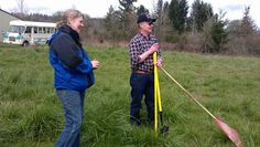 Hard working Dundee  Promise Church Administrator, Cliff Morgan, and Newberg HS team organizer, Betty Foufos.