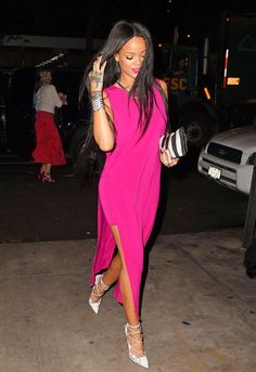 Riri bosses grown up glamour in head to toe fuchsia http://asos.to/1w4ZGT5