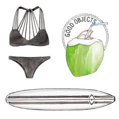 Good objects - Last days of summer? …. ☀️ #goodobjects watercolor illustration