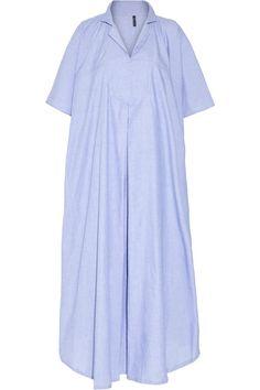 Lisa Marie Fernandez | Two-tone cotton-chambray kaftan | NET-A-PORTER.COM