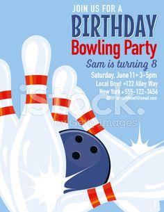 Einladung Zur Bowling Party  My Crafty Creations