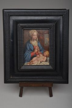 Oil on Copper Madonna + Child Mary Baby Jesus Religious Christianity Devotional