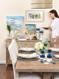 Beautiful blues and decor! Find your Gold Canyon Candle style and more!  Gold Canyon Candle - Leah Johnson