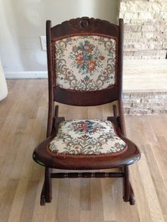 Solid Wood Antique Folding Rocking Chair by PepperMintRhino, $80.00