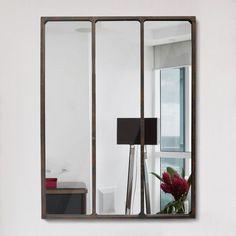 magnifique miroir d 39 atelier parfait pour agrandir la pi ce id e d co pinterest miroirs. Black Bedroom Furniture Sets. Home Design Ideas