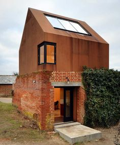 Corten Steel and Brick Music Studio - Haworth Tompkins architect Prefab Cabins, Prefab Cottages, Log Cabins, Adaptive Reuse, Old Buildings, Interior Architecture, Interior Design, Brick Architecture, Installation Architecture