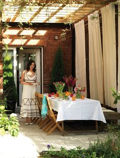 Breezy Backyard Dining Room | Photo Gallery: Small Backyards | House & Home | Photo by Rob Fiocca