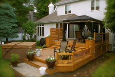 2007 2014 patio plus inc all rights Hot Tub Deck, Hot Tub Backyard, Gazebo On Deck, Patio Roof, Deck Decorating Ideas On A Budget, Patio Plus, Whirlpool Deck, Patio Pictures, Backyard Patio Designs