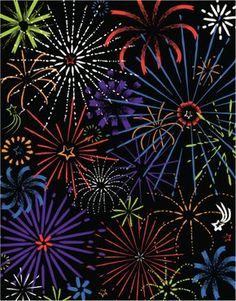 Fireworks in night sky Grouped elements Color Illustrator Ver. How To Draw Fireworks, Fireworks Art, New Year Fireworks, Landscape Drawings, Art Drawings, Firework Tattoo, Fireworks Wallpaper, Scratch Art, Ecole Art