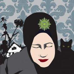 Grey Gardens fan art. Edie Jr. w/cat.