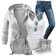 Grey and white too cute