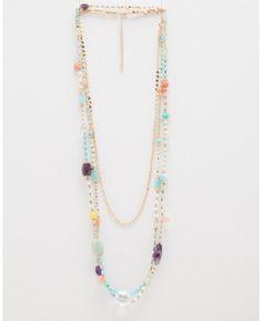 Spring Strands & Stones Necklace