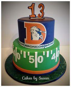 Denver Broncos Helmet Cake Cakes Gallery Pinterest Denver