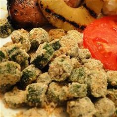 """Oven Fried Okra 