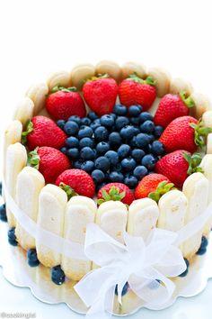 Strawberry And White Chocolate Charlotte Cake Recipe