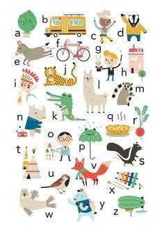 Petit Monkey poster ABC artisjok 50 x 70 cm NL