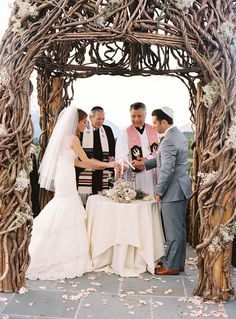 Modern Chuppah Design by Steven Bruce Design via Style Me Pretty, Photo by Charlotte Jenks Lewis