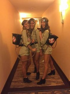 Ghost busters Halloween costume Source by Related posts: College costume Halloween girl Girl Scout diy 50 Best Group Halloween Costume Ideas To Wear To This Year's Halloween Party