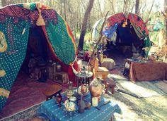 Bohemian camping. I hope it doesn't rain.