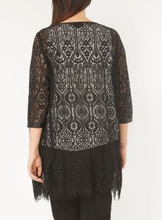 Live Unlimited Black Lace Jacket - Winter Savings - Sale & Offers - Evans Europe