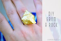 Wire Wrapped Gold Ring | Imagine this came from a rock. #DiyReady www.diyready.com