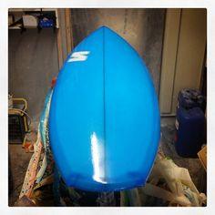 "5'8"" custom Rocket with transparent blue resin tint. Home time! #visionary #custommade #rocket #surfboard #surfboards #madetoorder #resintint #cutlaps http://ift.tt/19MEsb6 http://ift.tt/1v0LElc"