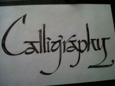 Calligraphy with broad marker