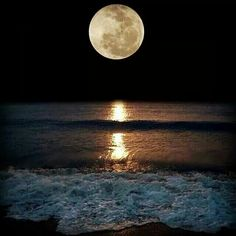 Super moon over Pensacola Beach