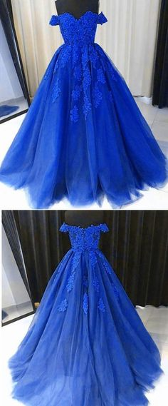 Unique Prom Dresses, Royal Blue Ball Gown Debutante Gown Girls Lace Prom Dresses, There are long prom gowns and knee-length 2020 prom dresses in this collection that create an elegant and glamorous look Cute Blue Dresses, Tight Prom Dresses, Royal Blue Prom Dresses, Blue Ball Gowns, Quince Dresses, Long Prom Gowns, Ball Dresses, Beautiful Dresses, Royal Blue Gown