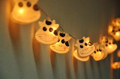 Cutie vache blanc mûrier lanternes en papier pour par ginew