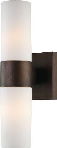 "Minka Lavery Wall Sconces 6212-647 Glass Reversible 120w (13""H x 4""W) Sconce Light in Bronze Minka Lavery http://www.amazon.com/dp/B008396B30/ref=cm_sw_r_pi_dp_pwrwub1A9DFSV"