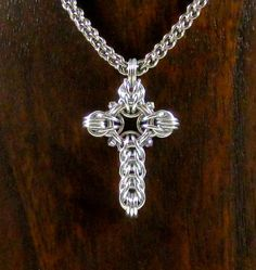 Celtic+Cross+with+Swarovski+Crystals+by+AnneGregoryJewelry+on+Etsy,+$20.00