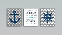 Nautical Nursery Whale nursery art print, Baby shower gift Grey Navy blue nautical decor set of 3 prints, 8x10 PRINTABLES
