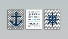 Nautical Nursery Whale nursery art print, Baby shower gift Grey Navy blue nautical decor set of 3 prints, 8x10 PRINTABLES