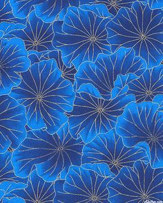 Tone - Lotus Leaves - Sapphire Blue/Gold