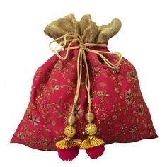 Wedding bells potli bag Pink