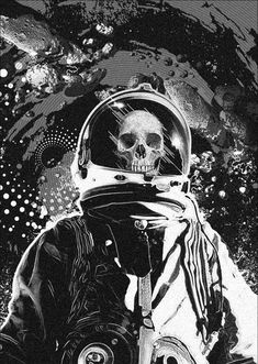 Jim Steranko tackles the greatest sci-fi art trope of all time: the skeleton in a spacesuit.