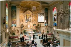 Wisconsin Club Wedding , photo by HeatherCookElliott.com, Country Floral. Old St. Mary's Church